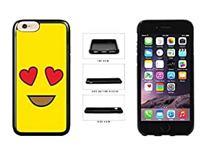 Bright Yellow Heart Eyes Smiley Face TPU RUBBER SILICONE Phone Case Back Cover Apple iPhone 6 Plus (5.5 inches)