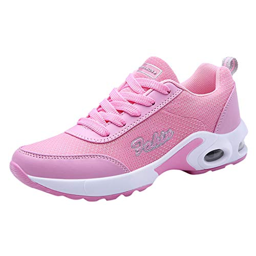 TOOPOOT Sports Shoes for Women, Summer Mesh Lightweight Breathable Sports Running Sneakers Shoes Pink ()