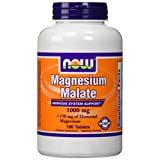 NOW Foods Magnesium Malate 1,000 mg Tabs, 180 ct