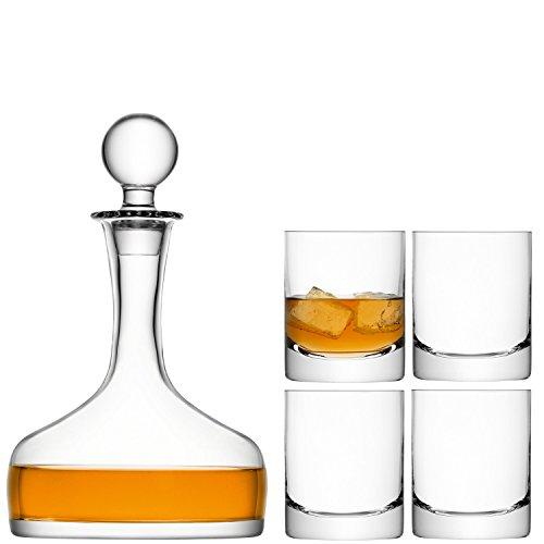 LSA International Bar Whisky Set, 53.8 fl. oz/8.5 fl. oz., Clear