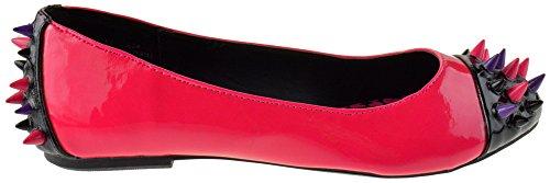 Strike Kvinners Piggete Patent Loafers Flats Mørk Rosa