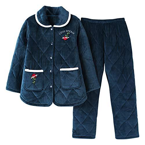 Loungewear Grueso Algodón Meixia Manga Cardigan Mujer Otoño Photo De Camisón Invierno E Icon Para Pijamas Larga T0w0q5R