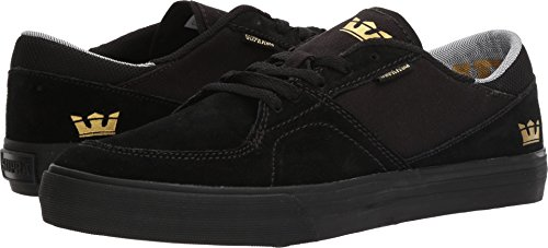 Supra Mens Melrose Shoes Nero / Nero / Gomma