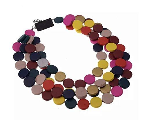 Nataliya African Bead Jewelry Set (Multilayer Multicolor Bohemia Collar) ()