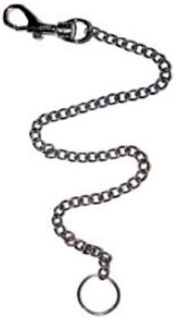 Silver Simple Long Chain Pendant Key Chain Clasp Key Ring Keyring Handbag N7