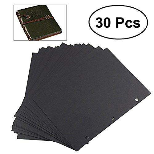 ULTNICE 30 Sheets Black Scrapbook Paper Scrapbook Album Refill Pages for Scrapbooking 18 26.3CM ()