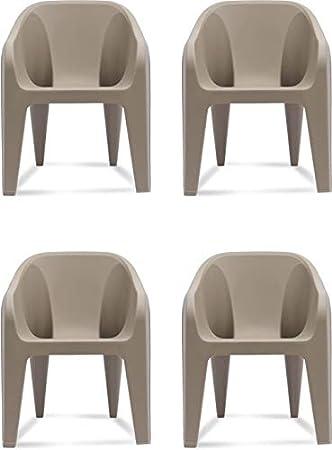 Supreme Futura Set of 4 Chairs, Beige