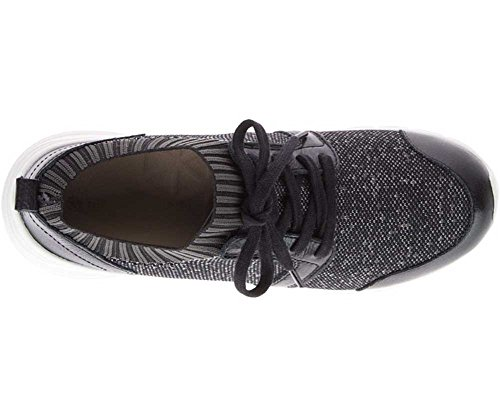 Hush Puppies Womens Cypress Knit Lace-up Black / White Textile