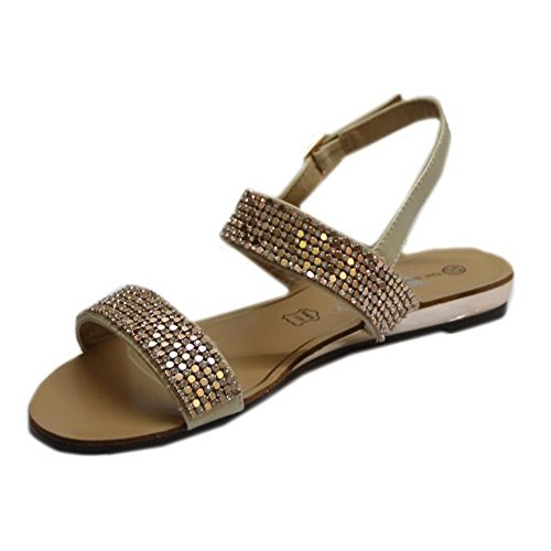 con STEKOST correa Zapatos Beige Mujer de tobillo c8cW61T4R