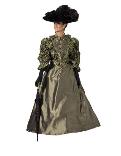 Women's Olive Victorian Era Annie Dress Theater Costume M ()