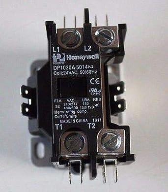 honeywell dp1030a5014 deluxe definite purpose contactor, 24 vac 1 pole:  room thermostat: amazon com: industrial & scientific