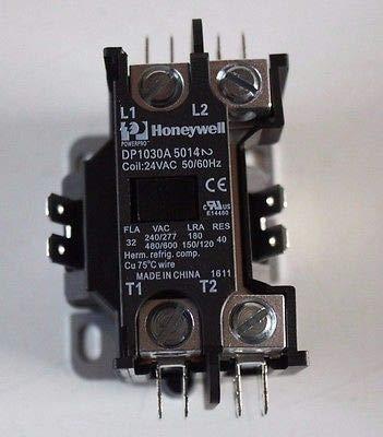 Honeywell DP1030A5014 Deluxe Definite Purpose Contactor, 24 Vac 1 Pole