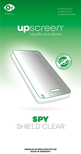 upscreen Spy Shield Clear Privacy Screen Protector for Getac Z710, self-adhesive, Privacy Protection, Multitouch optimized