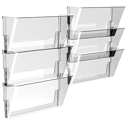 Storex Wall File, 16 x 4 x 7 Inches, Legal, Clear, Case of 6 (Clear Case Legal)
