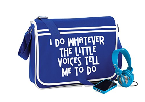 Retro Sayings Funny Messenger unisex Royal Novelty Little Bag Bright Voices wxvt4q4X