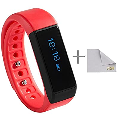 EFOSHM Health Wireless Activity Sleep Monitor Pedometer Smart Fitness Tracker Wristband Watch Bracelet for Men Women Boys Girls Ladies Man Iphone Sumsung HTC (Pink)