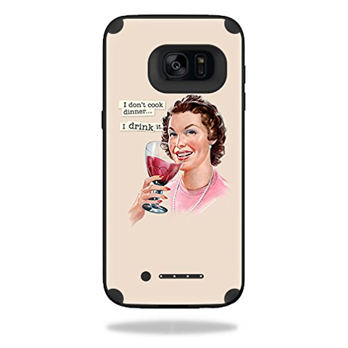 Skin Compatible with Mophie Juice Pack Samsung Galaxy S7 Edge Case - Wine Cook | MightySkins Protective, Durable, and Unique Vinyl wrap Cover | Easy to Apply, Remove | Made in The USA