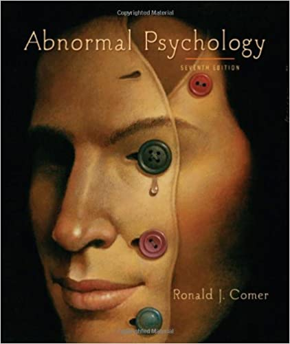 Amazon abnormal psychology 9781429216319 ronald j comer books abnormal psychology seventh edition fandeluxe Gallery