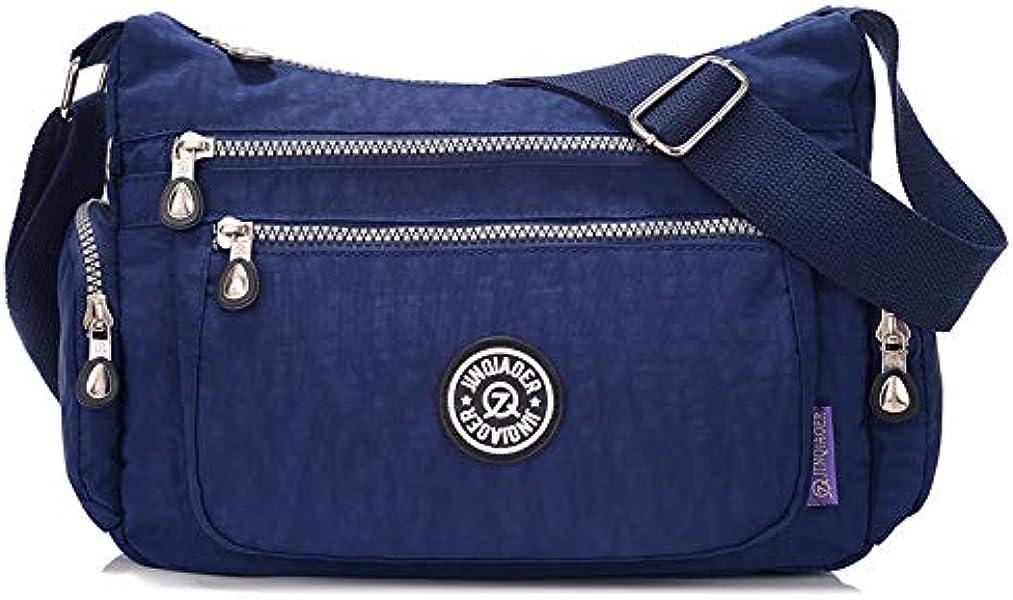 Women Handbag Bags Ladies Waterproof Solid Nylon Crossbody ...