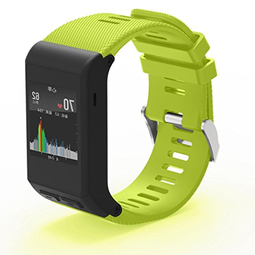 Hunputa New Fashion Sports Silicone Bracelet Strap Band For Garmin vivoactive HR (Green)