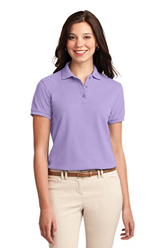 Authority Shirt Knit Port (Port Authority Women's Silk Touch Polo M Bright Lavender)