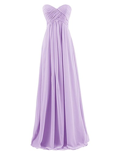 VaniaDress Women Ruffle Strapless Long Bridesmaid Dress Evening Gown V145LF Lavender US20W