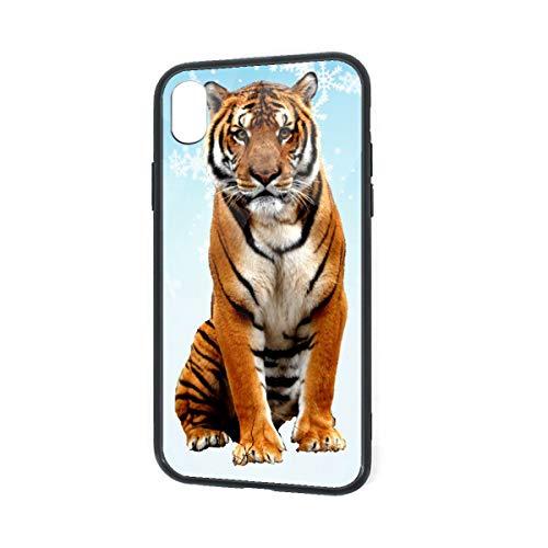 Sumatran Tiger iPhone XR TPU Glass Phone Case Shock-Absorption Bumper Cover 6.1 Inch