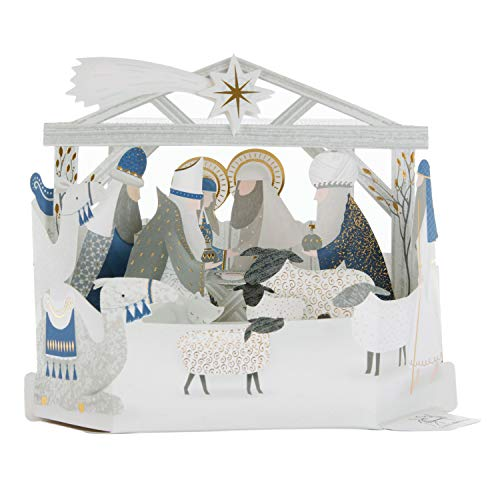 Nativity Scene Card Christmas (Hallmark 25501735 Luxury Pop Up Christmas Card Pack
