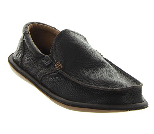 Sanuk Men's Chibalicious Deluxe Slip-On, Dark Brown, 8 M US