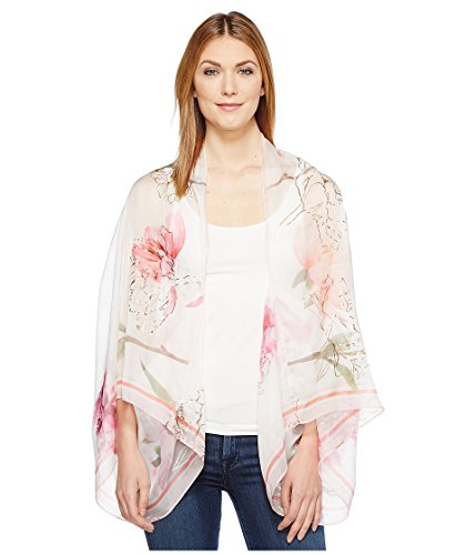 Ted Baker London Women's Sketchbook Cape Scarf, Ecru, One Size