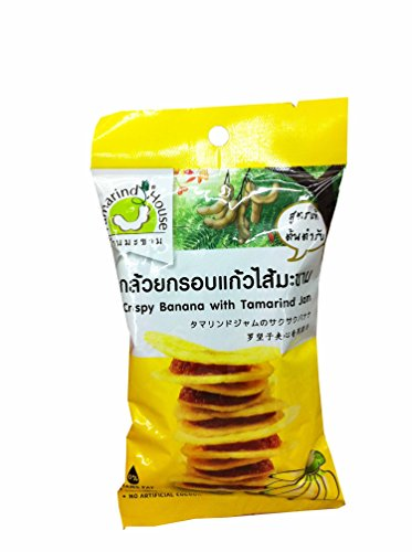 3 Packs of Crispy Banana with Tamarind Jam, Delicious Snack From Tamarind House Brand, GMP Certified. (40 G/ (Banana Flasher Costume)