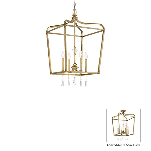 Minka Lavery Minka 4448-582 Transitional Four Light Pendant from Laurel Estate Collection in Gold, Champ, Gld Leaffinish, 17.00 Inches 17.00 Inchesfour