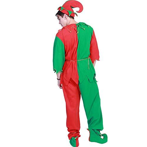 Disfraz De Elfos Adultos Disfraz De Ayudante De Papá Noel para ...