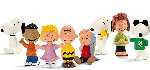 Schleich Charlie Brown Figures - Set of 8 Peanuts Characters