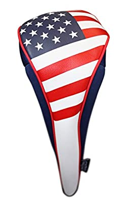 USA Patriot Golf Zipper Head Covers 5 Fairway Woods Headcover U.S.A Neoprene Style Patriotic Driver Fits All Fairway Clubs