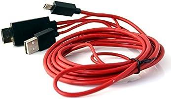Cable de teléfono a TV. Cable adaptador de Micro USB a HDMI de 2 m ...