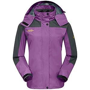Wantdo Women's Nylon Jacket With Hood Outdoors Jacket For Travel Purple US XL