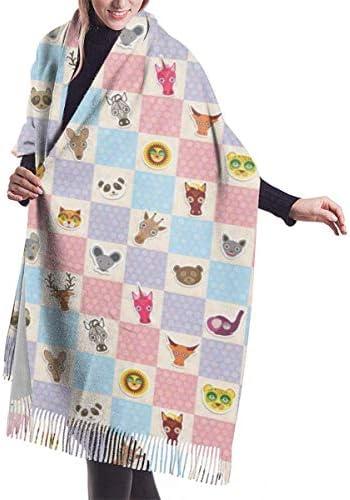 Funny Animals Beer Panda Plaid Fashion Großer, weicher, warmer Winter-Wickelschal für Damen Herren 192 x 68 cm