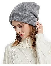 SD SHADOW DOMAIN Gorro de invierno para mujer, doble capa, mantiene el calor
