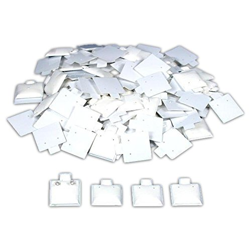 FindingKing 100 White Earring Puff Cards Jewelry Showcase Displays 1