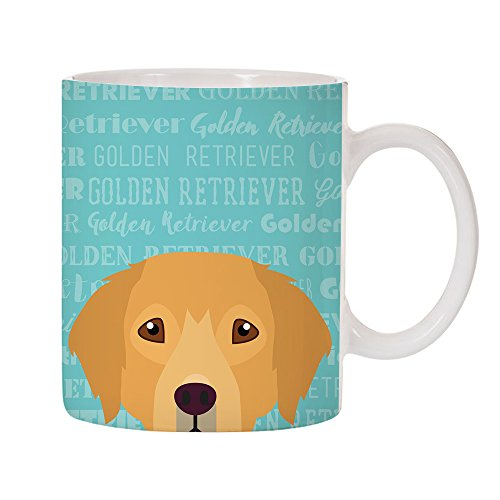Adorable Dog Breed Specific 11oz Ceramic Coffee Mug (Golden ()