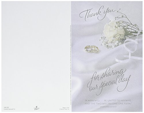 Darice VL6120 Thank You for Sharing Wedding Program Card, 100-Pack -