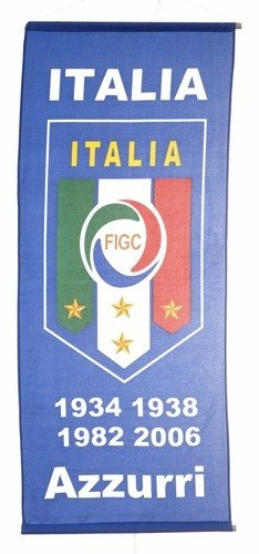 Italia Italy Soccer Football X-large Banner... 46 X 20 Inch .. New