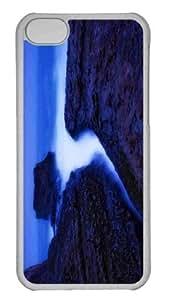 Customized iphone 5C PC Transparent Case - Davenport Beach Twilight Personalized Cover