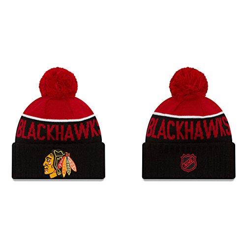 New Chicago Blackhawks Nhl Cap - NHL Chicago Blackhawks Ne15 Sport Knit Beanie, One Size, Black