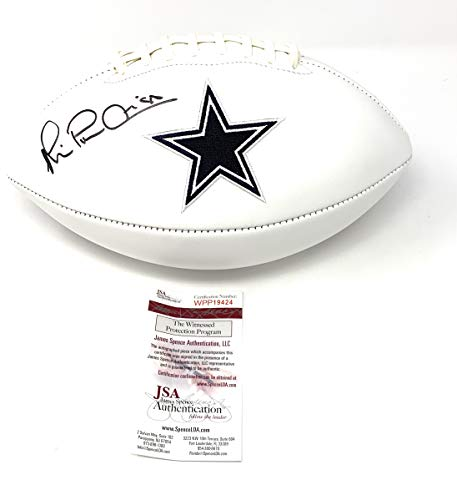 Michael Irvin Dallas Cowboys Signed Autograph Embroidered Logo Football JSA Witnessed Certified