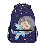 School Bags, Star Monkey Travel Laptop Large Lightweight Durable Outdoor Backpack Hiking Camping College Cute Casual Rucksack Bookbag Daypack for Women Men Girls Boys