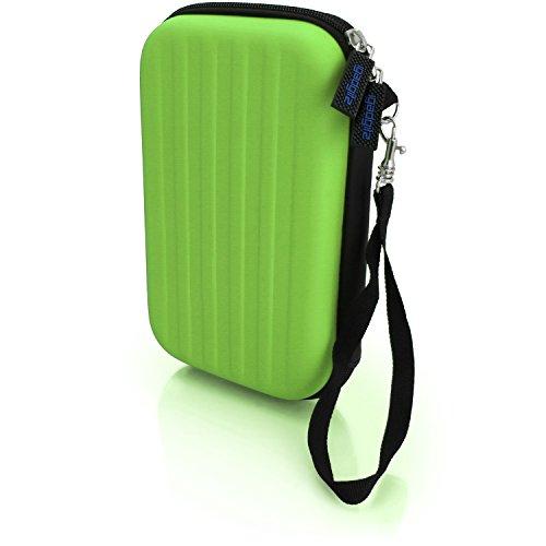 igadgitz Grün EVA Hart Tasche Schutzhülle fur Neu Nintendo 3DS 2015 Etui Case Cover mit Tragegurt