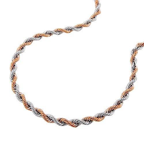 Schmuck Krone Chaîne cordon 2mm bracelet avec chaîne en or blanc 585& Or Rouge 19mm