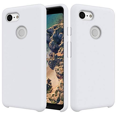 (Case Google Pixel 3 Liquid Silicone Gel Rubber Ultra Hybrid Premium Hybrid Protective Cover for Google Pixel 3)